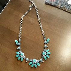 Auth J. Crew Statement Bib Necklace This is new with out tags it was a store display & came out of case. It is gorgeous!  Retail is 59.50 plus tax. Brand new no trades only selling :) J. Crew Jewelry Necklaces