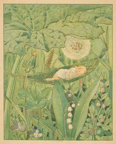 Elsa Beskow. Fast asleep. (1909)