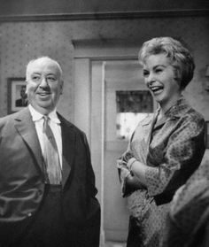 fuckyeahdirectors:  Alfred Hitchcock and Janet Leigh on-set of Psycho (1960)