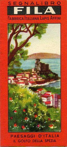 Segnalibri Fila Giotto  Anni '40/'50 Serie Paesaggi d'Italia by Mario Algozzino bookmarks