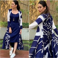 [New] The 10 Best Fashion Ideas Today (with Pictures) - Satin Jacket With Paper Silk Kurti Kurti Jacket Collection Stitched Collection For more details please contact us/Dm. Dress Indian Style, Indian Fashion Dresses, Indian Designer Outfits, Designer Dresses, Fashion Outfits, Fashion Wear, Style Fashion, Fashion Beauty, Fashion Design