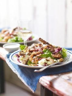 Sweet Chilli prawn caesar salad