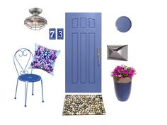 A Sweet Summer #FrontDoor look to add some #curbappeal to your home // #hgtvmagazine http://www.hgtv.com/design/decorating/design-101/front-door-design-ideas-pictures?soc=pinterest