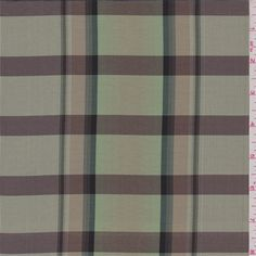 Celery green, cocoa brown, black and gold yarn dyed plaid with a sheen.A lightweight silk woven fabric with a crisp hand.Use for home dcor applications such as pillows and window treatments. Also suitable for apparel. Hand wash or dry clean Compare to $30.00/yd