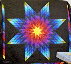 Radiant Star Quilt Rhonda Rannow See Nine Color Variations