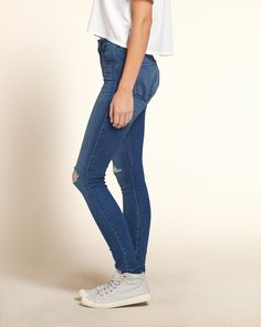 Girls Hollister High Rise Super Skinny Jeans | Girls Bottoms | HollisterCo.ca