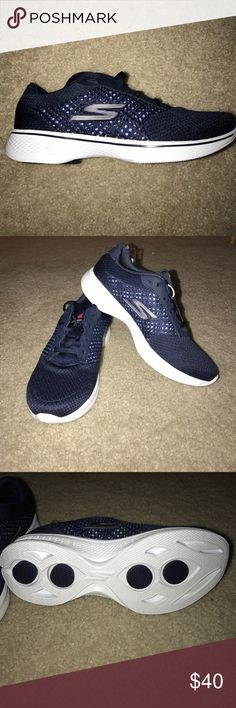 Skechers Go Walk 4 - Brand new sample size 6 Skechers Go Walk 4 - Brand new sample size 6 - please see pictures- color is Navy/White Skechers Shoes Athletic Shoes