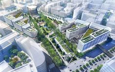 The Hongqiao Vantone SunnyWorld Centre is a major new sustainable masterplan for a prominent site at the heart of the Shanghai Hongqiao CBD.