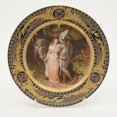 Royal Vienna Plate Brunhilde & Siegfried : Lot 2220