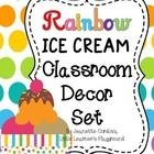 This+adorable+classroom+decor+set+will+sweeten+up+any+classroom!++It+has+everything+you+need+for+a+bright+rainbow+themed+classroom,+featuring+color...