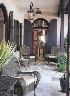 Arched shutters... LIKE'em French Quarter Lantern on a Yoke bracket customer photo