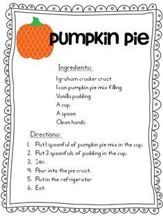 Easy Pumpkin Pie recipe for school