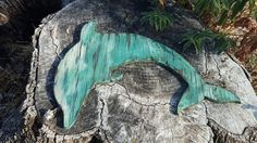 Dolphin art distressed wood Dolphin hanging by WoodCreationsByJana