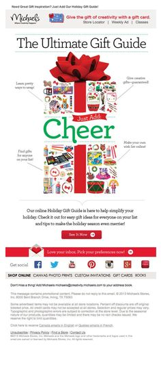 Get ideas for your Christmas email marketing campaign from these 11 promotional newsletter designs and 55 Christmas subject line examples. Email Layout, Newsletter Layout, Newsletter Design, Newsletter Ideas, Christmas Newsletter, Mailer Design, Holiday Emails, Email Design Inspiration, Christmas Campaign