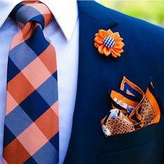 Nice mix of orange and blue!!