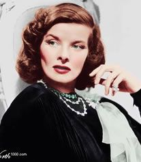 Katharine Hepburn in color, love the auburn hair!