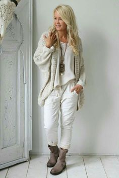 Cute outfit, but don't care for overly wrinkled pants