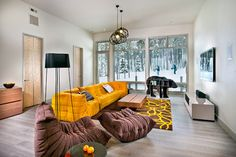 that couch and chair!   New Mood Design - contemporary - family room - denver - New Mood Design LLC