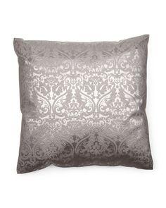 22x22 Metallic Damask Pillow