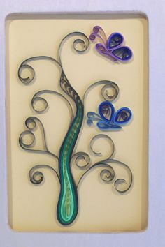 Paper Quilling Butterflies Framed by CeciLorett on Etsy