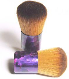 Foundation Brush Hand Painted Vegan Kabuki Brush for Mineral Makeup Application