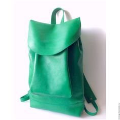 Buy Morocco Leather Backpack Green - leather, leather backpack women's, leather bag, backpack