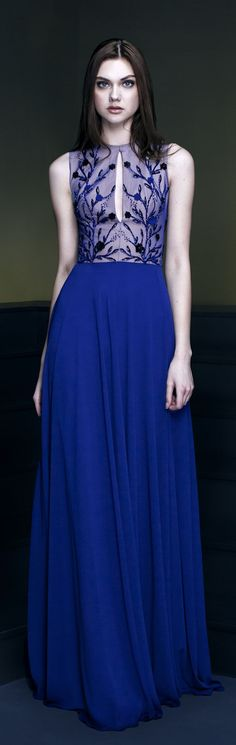 """Georges Hobeika RTW """"Signature"""" F/W 2014-2015   Blue my mind.. www.sisterswithbeauty.com approved"""