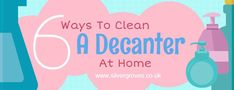 6 Easy Ways On How To Clean A Decanter At Home. This post provides a range of the top methods in the industry for cleaning your decanters. Wine Carafe, Decanter, Drink Cart, Beverage Cart, Foster Home For Imaginary Friends, Home Hacks, The Fosters, Cleaning, Easy