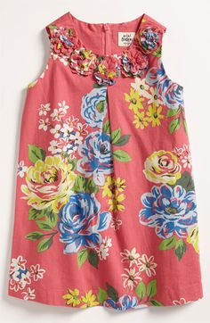 Mini Boden 'Pretty' Print Dress (Toddler) available at Nordstrom