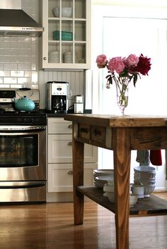 new kitchen with custom island by curiousleigh, via Flickr