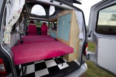 VW Campervan Conversion Interior Cambee 'Rock and Roll' Bed. Fully upholstered from £1650 www.cambee.co.uk