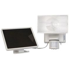 Maxsa Innovations Solar-powered 50-led Motion-activated Outdoor Security Floodlight (white) (pack of 1 Ea)