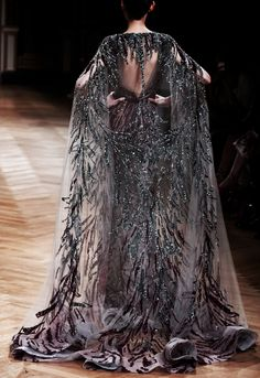 "runwayandbeauty: "" Back Detail: Ziad Nakad Haute Couture Fall/Winter "" Couture Fashion, Runway Fashion, High Fashion, Looks Black, Fantasy Dress, Zuhair Murad, Looks Style, Marchesa, Mode Inspiration"
