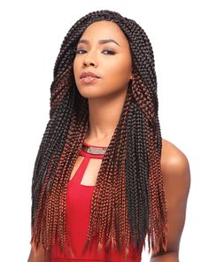 Sensationnel African Collection Crochet Braid - Senegal Box Braid 40""