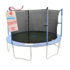 Upper Bounce 14'  Round Trampoline Net Using 4 Poles or 2 Arches