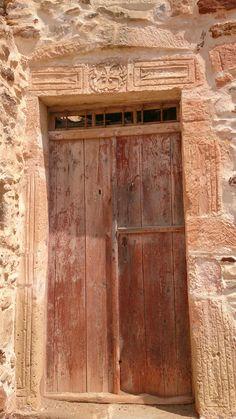Old door in Kimolos island, Cyclades, Greece