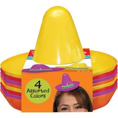 Fiesta Mini Plastic Sombrero Headbands 8ct50¢ per piece!