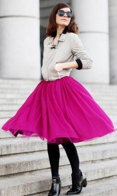 Fuchsia Tulle Skirt #Tulle Skirts