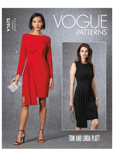 Sewing patterns for fashion clothing, crafts and home decorating. Dress sewing patterns, evening and prom sewing patterns, bridal sewing patterns, plus costume and cosplay sewing patterns. New Dress Pattern, Dress Patterns, Clothes Patterns, Vogue Patterns, Robes D'occasion, Chiffon, Miss Dress, Special Occasion Dresses, Designer Dresses