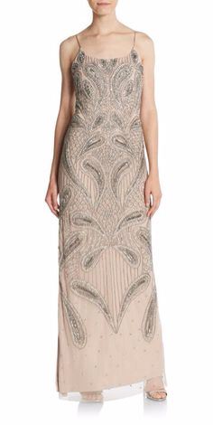 Aidan Mattox | Beaded Gown | SAKS OFF 5TH