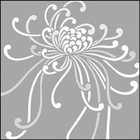 Spider Chrysanthemum stencil section.