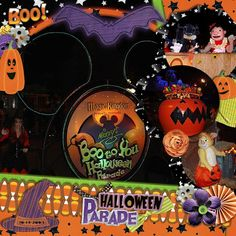 Disney Boo To You Parade page layout by Jennifer using Boo to You Digital Kit by Capturing Magical Memories #DisneyScrapbooking #DisneyMemories