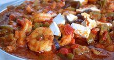 Γαρίδες σαγανάκι με φέτα - OlaSimera Cookbook Recipes, Cooking Recipes, Kung Pao Chicken, Feta, Potato Salad, Shrimp, Seafood, Potatoes, Ethnic Recipes