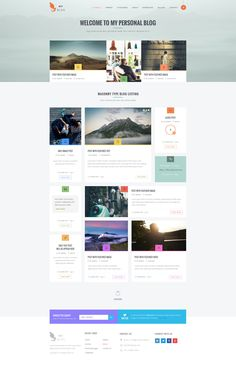 My Blog - New and Blog PSD Theme