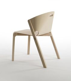 Chair Made of Plywood and Ash frame