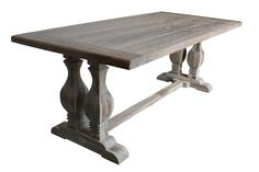 Gray Washed Dining Table..love the legs