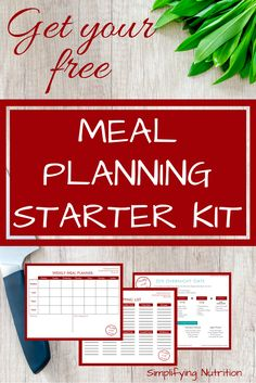 Ready to start meal planning? Download your free Meal Planning Starter Kit Printable to make a quick, healthy meal plan. By Kaitlyn @ SimplifyingNutrition.com