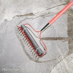 Make a Squeegee From a Rake - Need a squeegee in a hurry? Take a piece of pipe…