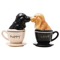 Puppy Love Salt and Pepper Shakers from Retro Planet
