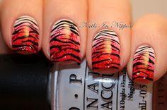 Valentine's Day Pink/Red Sponged Tiger Print